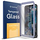 Caseology for iPhone Xs Max Screen Protector [Tempered Glass with Guide Frame] - Easy Installation Scratch Resistant Screen Protector for iPhone Xs Max 6.5 (2018) - 2 Pack