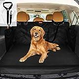 PetIsay Funda para maletero de coche para perros, SUV con protector de solapa, impermeable, resistente a los arañazos, antideslizante, lavable, tamaño grande, ajuste universal, color negro