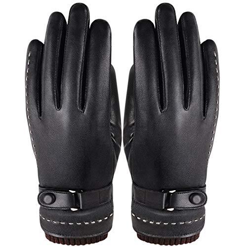 Handskar för höst och vinter män och kvinnor par Ny tvättad fårskinn pekskärm förtjockning utomhus ridning varm körning (Color : Womens gloves, Gloves Size : One Size)