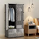 KOUSI Portable Wardrobe Closets 14'x18' Depth Cube...