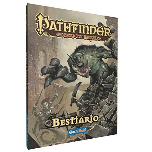 Giochi Uniti- Pathfinder: Bestiario Pocket Gioco di Ruolo, Colore Multicolore (Illustrato), GU3179