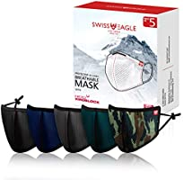 Swiss Eagle Mesh Face Mask: Swiss Tech Protection with Advanced Airsoft HeiQ Filters - Reusable Outdoor Face Covers,...