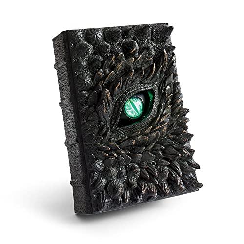2021 New Hot Realistic Deluxe Animated Dragon Book, Animated Halloween Dragon Book Prop, Orribile simulazione Ornamenti di Halloween Book of The Dragon Ornamenti in resina