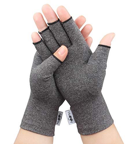 Compression Arthritis Gloves, Fingerless Hand Gloves for Rheumatoid & Osteoarthritis - Joint Pain...