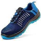 FREEUP Calzado de Seguridad Transpirable Zapatos Especiales para el Trabajo Seguridad Deportiva,Blue,42EU