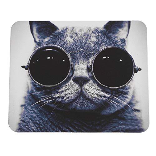 DF-ES Elegante Gato patrón Antideslizante PC portátil Ratones Alfombrilla Alfombrilla para Mouse láser óptico Cómodo Lindo Alfombrilla de ratón para Juegos (Color: Multicolor 240 * 200 * 2 mm Gato)