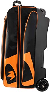 Brunswick Blitz Triple Roller Bowling Bag, Black/Orange