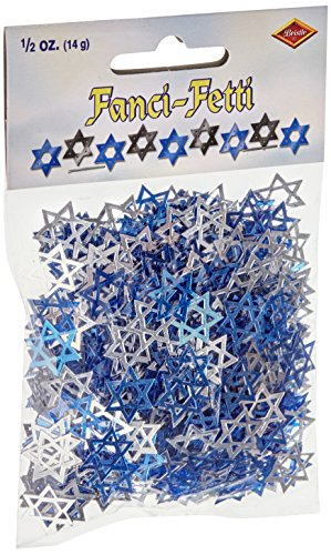 Fanci-Fetti Star Of David (blue & silver) Party Accessory (1 count) (.5 Oz/Pkg)
