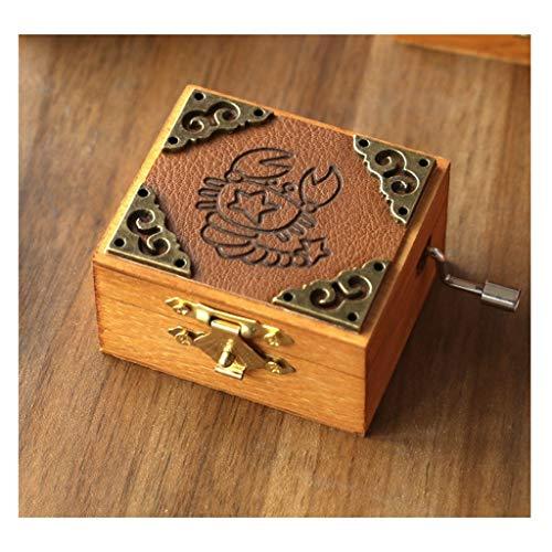 Cajas Musicales Caja de música Doce caja de música constelación, caja de música retro, caja de música de manivela, caja de música de madera, caja de música de regalo creativo regalo de cumpleaños