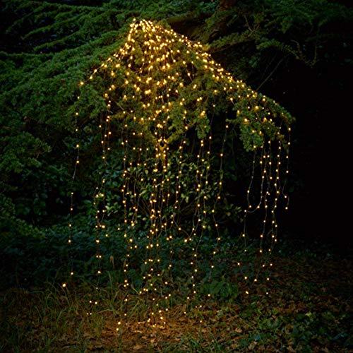 Solar Zweig Kobold Lampe, 10 Aktien von 200 LED wasserdichte String Lampe Wasserfall dekoriert Solarlicht für outdoor, Garten, Party, Hochzeit, Weihnachtsbaum, Rebe (warm weiß)