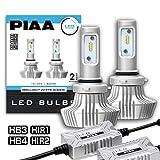 【Amazon.co.jp 限定】PIAA ヘッドライト・フォグランプ用 LEDバルブ 6000Kシリーズ 4000lm HB3・HB4・HIR1・HIR2 12V 20W車検対応 2個入 X7341