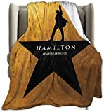 Hamilton The Musical Micro Fleece Blanket Throw Super Soft Fuzzy Lightweight Hypoallergenic Plush Bed Couch Living Room80'X60'