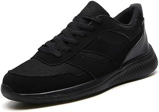 ZUAN Fashion Sneakers for Men Low Top Walk Sport Shoes Elastic Casual Lace Up Mesh Turn Toe Anti-Slip Lightweight