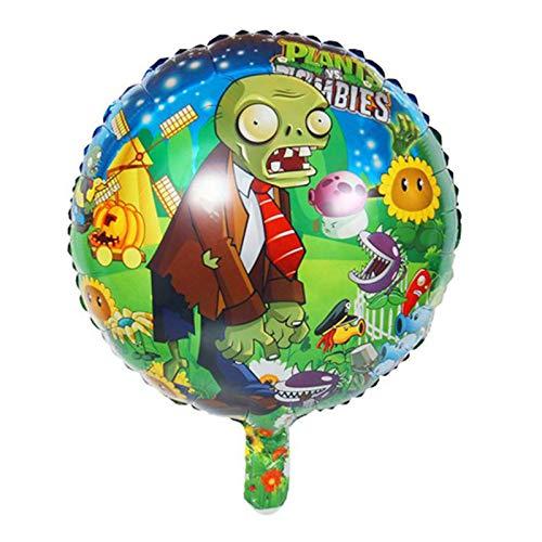 JSJJAES Globos 50 unids 18 Pulgadas Plantas vs Zombies Balloon Foil Ball Ball Party Globons para Festa Infantil Decoración Juego Juguetes Regalo