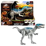 Jurassic World Roar Attack Baryonyx Chaos Camp Cretaceous Dinosaur Figure with Movable Joints, Realistic Sculpting, Strike Feature & Sounds, Carnivore, Kids Gift 4 Years & Up