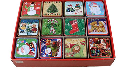 Cookie Tins 12PackCookie Tins with Lids Empty Cookie Storage Tins Christmas Cookie Gift Tins
