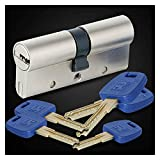 Puerta de Seguridad Universal Cilindro Blanco de Cobre Llave del Portal de Cubierta Lock Core GP + 60-95mm Serie B 30 / 30MM-30 / 65mm Cerraduras Antibumping (Color : 90(30knob 60MM))