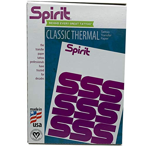 Spirit Thermal Fax Stencil Paper (8.5 X 11) Element Tattoo Supply Transfer Sheets Many Different Package Size by ReproFX Spirit