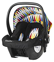 Group 0+ suitable from birth to 13kg/29lbs Rearward facing on front and rear vehicle seats 5 point harness with quick release buckle Compatible with Cosatto Ooba, Giggle 2, Woop and To & Fro chassis Quick release car seat when used with Hold belted b...
