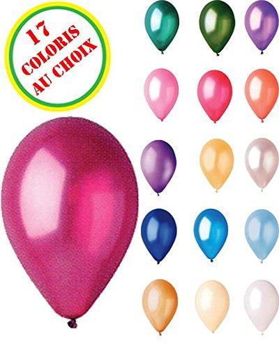 Sachet De 50 Ballons Nacres Bleu Moyen Diam 30Cm-Circonf 85Cm- 36