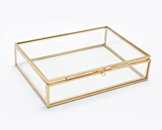 The Queen of Crowns Glass Photo Box, Proof Box, Glass Shadow Box, Gold Glass Box (4x6)