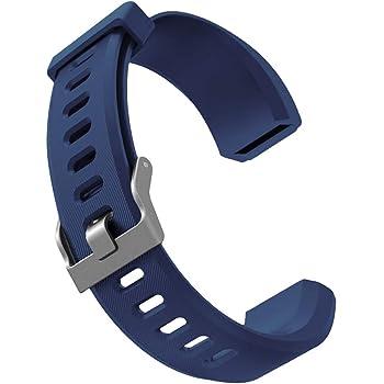 ID115Plus 交換ベルト HR バンド 柔らかい シリコン スマートウォッチ用 調整可能 全5色