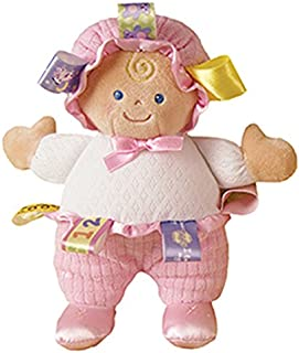 Mary Meyer Taggies Developmental Baby Doll, Pink, 8-Inch