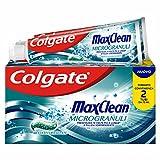 Colgate Dentifricio Max Clean Microgranuli, Freschezza a Lungo, Penetra Fra i Denti e Attorno Alle Gengive, Menta Effervescente, Bitubo