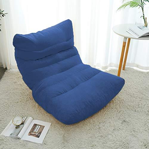 Xin Hai Yuan Funda de sofá Perezoso Puf para Sala de Estar Tatami Silla Relajante Funda de sofá Puf Perezoso con Relleno Interior,Azul
