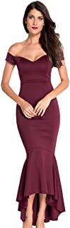 Womens Sexy Off Shoulder Mermaid Evening Dress Formal Party Gowns