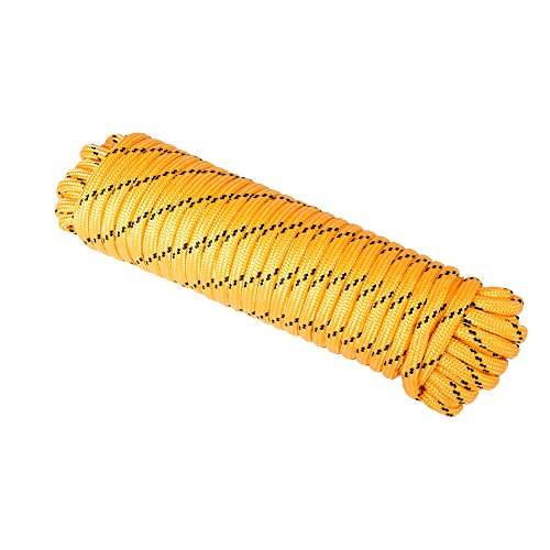 DT-Rope 1/2 in x 100 ft Diamond-Braid Polypropyle Rope (Yellow-Multicolor)
