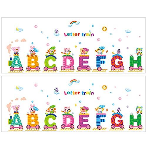 Cabilock 2 sets alfabet sticker educatieve stickers decoratieve stickers leren speelgoed