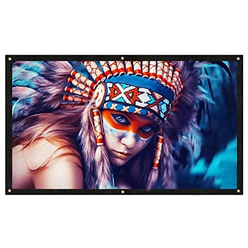 100 Inch Projector Screen, GooDee Indoor Outdoor Projection Screen 4K HD 16: 9 Portable Video Widescreen Movies Screen for Home Theater