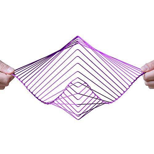 Atellani Square Wave | El fascinante spinner cinético de viento | Pieza mágica calmante arte por Ivan Black (Amethyst)