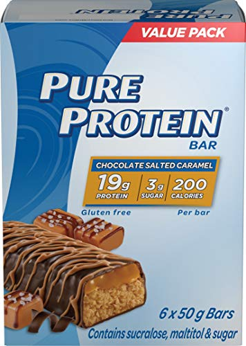 Pure Protein Bars, Gluten Free, Snack Bars, Chocolate Salted Caramel, 50 gram, 6 Count