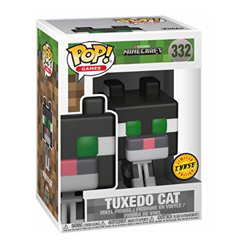 Figura POP! Vynil 332 Minecraft Tuxedo Cat Variante Edición Chase