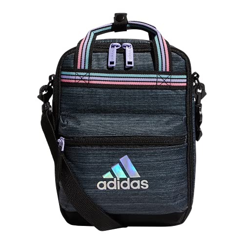 adidas Squad Insulated Lunch Bag Mochila para el almuerzo, Dos tonos negro/bola de nieve, Talla única Unisex