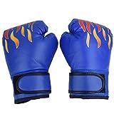 VGEBY1 Guantes de Boxeo para niños: protección Duradera para los Nudillos con Soporte de muñeca para el Boxeo MMA Muay Thai o Entrenamiento Deportivo/Combate de Combate - 3 Colores(Azul)