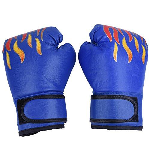 VGEBY1 1 Paar Kinder Boxhandschuhe, Kickboxing Sparring Trainingshandschuhe Boxsack Muay Thai Mitts für Kinder, Jugend(Blau)