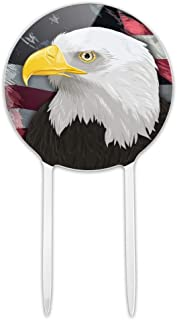 GRAPHICS & MORE Acrylic American Bald Eagle Flag USA Patriotic Cake Topper Party Decoration for Wedding Anniversary Birthday Graduation