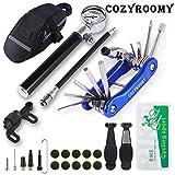 COSYROOMY Fahrrad Reifen Reparaturset - Reparatur Werkzeug Set mit 210 Psi-Minipumpe 10 in 1 Multitool