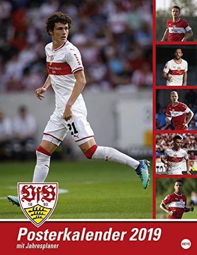 VfB Stuttgart Posterplaner - Kalender 2019 - Heye-Verlag - Wandkalender mit Spielergeburtstagen - 34 cm x 44 cm