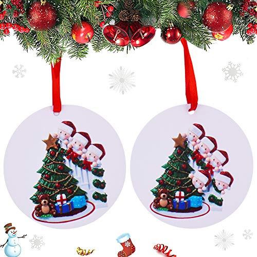 BAIBEI 2Pcs 2020 Decoraciones Navideñas, Adorno de Familia Sobrevivido, para Decoración del Árbol De Navidad Kit De Decoración Navideña Personalizado Regalo Creativo