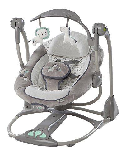 Ingenuity, Orson 2 in 1 Babyschaukel und -sitz, zusammenklappbar, mit Vibrationen, 5 Schaukelgeschwindigkeiten, mehr als 8 Melodien und Lautstärkeregler