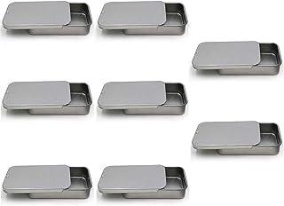Jixista Scatola di Metallo Contenitore Di Latta In Metallo Latta di Piccole Dimensioni Scatola di Argento Mini Scatola di ...