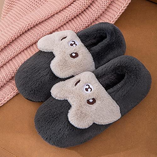 Zapatillas De Casa Hombre Invierno,Nuevos Zapatos De AlgodóN para NiñOs De Conejo, Zapatos CáLidos Y CóModos De Suela Blanda para NiñOs Y NiñAs, Y Lindas Y Dulces Pantuflas De Felpa De AlgodóN con Me