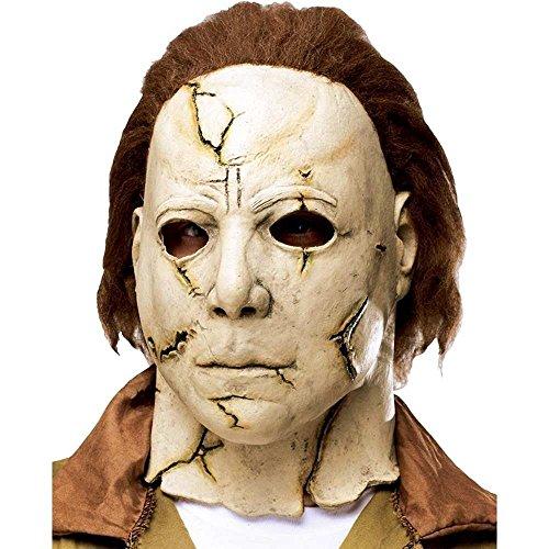 Michael Myers Masker Halloween officieel gelicentieerd artikel van 100% latex, met kunststofharen, eenheidsmaat voor volwassenen.
