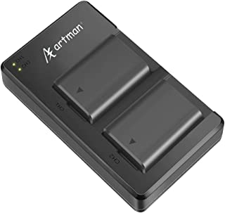 Artman NP-FW50 Batteries and USB Dual Charger Kit for Sony A6000 Battery, A6500, A6300, A7, A7II, A7RII, A7SII, A7S, A7S2,...