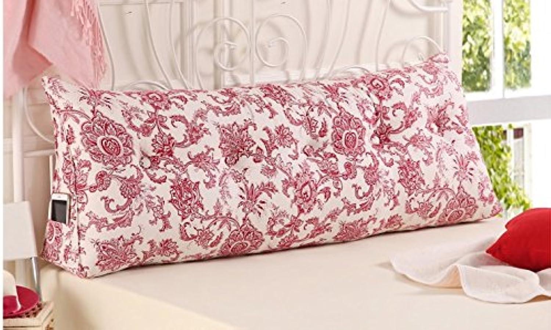 NYDZDM Lit grand canapé arrière coussin oreiller tête oreiller long oreiller lit coussin dorsal sac souple sans lit double lavable (Taille   120  25  50CM)