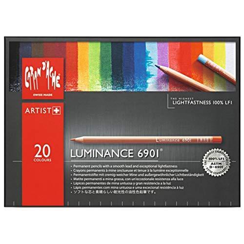 Caran d-Ache Luminance 6901 Multi 20pieza(s) laápiz de color - Lápiz de color (20 pieza(s), Retráctil, Multi, Madera, Multicolor, Suiza)